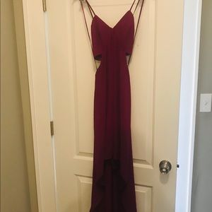 Magenta cut out dress